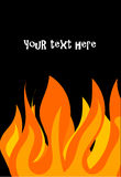 Fire flames. Over black background  illustration Stock Photography