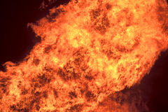 Fire and Flames. Huge explosion of blazing fire and flames Stock Image