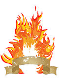 Fire - flames Royalty Free Stock Image