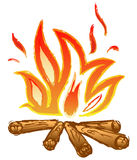 Fire flames. Doodle style. Vector Royalty Free Stock Photos