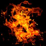 Fire flames. On a black background Royalty Free Stock Photos