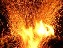 Fire flames. Abstract fire flames and sparks Stock Image