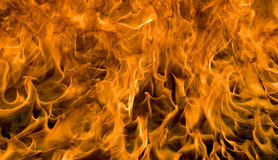 Fire and flames. Burning fire and flames background Royalty Free Stock Photo