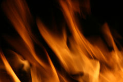 Fire and flames. On a black background Stock Photography