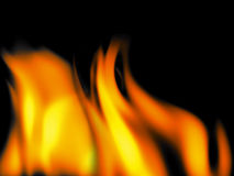 Fire flames. Abstract fire flames on black background - computer generated Stock Images