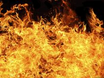 Fire and flames. Massive blazing fire and flames for background use Royalty Free Stock Photo
