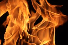 Fire flames. Beautiful fire flames background texture Royalty Free Stock Photo