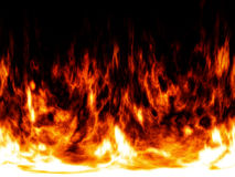 Fire and flames abstract background Stock Photography