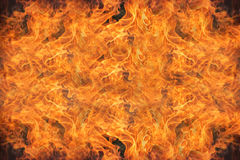 Fire flames abstract background Stock Photography
