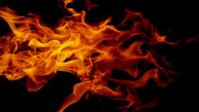 Fire flames on Abstract black background, stock images