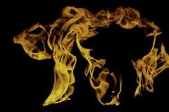 Fire and flames - abstract shape I Stock Images