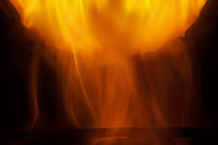 Fire and flames - abstract shape Stock Photography
