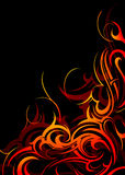 Fire-flames abstraction Stock Photo