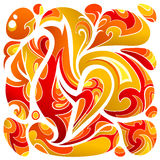 Fire flames abstraction. Artistic abstraction with fire flame elements on white Stock Photo