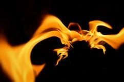 Fire flames abstraction burning. Fire flames hot abstract background for powerful design Royalty Free Stock Images