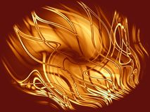 Fire and Flames Background. An abstract digital art texture pattern of fire and flames with glowing lines Stock Images