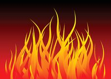 Fire flames background. Vector hot fire flames background Royalty Free Stock Photo