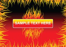 Fire flames background. Fire flames vector text box background Stock Image