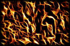 Fire and flames background Royalty Free Stock Images