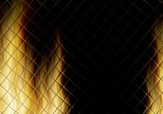 Fire flames background. Abstract illustration of hot flames Stock Photo
