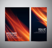 Fire flames background. Brochure business design template or roll up. Stock Image