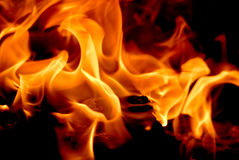 Fire flames for background Stock Photos