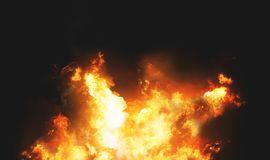 Fire flames background 3d. Render Stock Photo