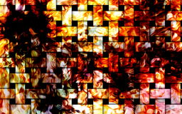 Fire flames background, mosaic structure. Computer collage. Earth Concept. Fire flames background, mosaic structure. Computer collage. Earth Concept Stock Photo