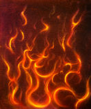 Fire flames background, original  painting Royalty Free Stock Images