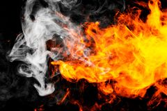 Fire flames background. Background of smoke vape Royalty Free Stock Photo