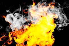 Fire flames background. Background of smoke vape Stock Photography