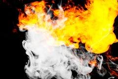 Fire flames background. Background of smoke vape Stock Photo