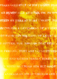 Fire Flames Background with White Rustic Print Stock Photos