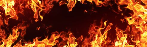 Fire Flames Background Stock Image