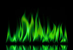 Fire flames on a black Stock Photo