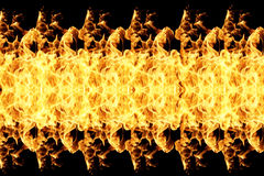 Fire flames on black. Background Stock Photography