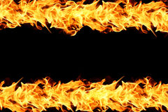 Fire flames on black Royalty Free Stock Photos