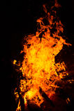 Fire flames on a black background. Abstract Fire flame on black background Stock Photo