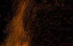 Fire flames on a black background. Blaze fire flame texture back Royalty Free Stock Photography