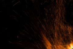 Fire flames on a black background. Blaze fire flame texture back Stock Photos