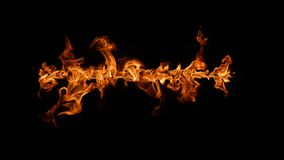 Fire flames on black background. royalty free stock photography