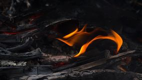 Fire flames on black background. Stock Photography