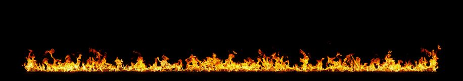 Fire flames on black. Background royalty free stock photography
