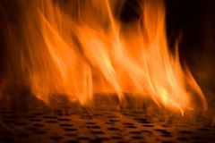 Fire flames with black hole,blaze fire flame texture background Stock Photography
