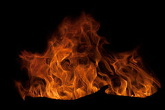 Fire and flames -  on black Stock Images
