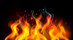 Fire Flames. A fire or flames burning abstract background illustration Stock Photo
