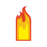Fire flames burning. Fire flame burning element icon over white background. vector illustration Royalty Free Stock Photos