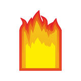 Fire flames burning. Fire flame burning element icon over white background. vector illustration Royalty Free Stock Images