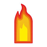 Fire flames burning. Fire flame burning element icon over white background. vector illustration Stock Photos