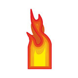 Fire flames burning. Fire flame burning element icon over white background. vector illustration Stock Images